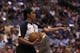 April 12, 2013; Dallas, TX, USA;  NBA referee Violet Palmer in action during the game with the Dallas Mavericks playing against the Denver Nuggets at the American Airlines Center. Mandatory Credit: Matthew Emmons-USA TODAY Sports