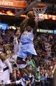 April 12, 2013; Dallas, TX, USA; Denver Nuggets forward Kenneth Faried (35) shoots against the Dallas Mavericks at the American Airlines Center. Mandatory Credit: Matthew Emmons-USA TODAY Sports