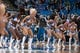 Apr 13, 2013; Minneapolis, MN, USA; Minnesota Timberwolves dance team members performs in the fourth quarter against the Phoenix Suns at the Target Center. Timberwolves won 105-93. Mandatory Credit:  Greg Smith-USA TODAY Sports