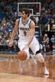 Apr 13, 2013; Minneapolis, MN, USA; Minnesota Timberwolves point guard Ricky Rubio (9) controls the ball against the Phoenix Suns in the third quarter at the Target Center. Timberwolves won 105-93. Mandatory Credit:  Greg Smith-USA TODAY Sports