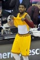 Apr 15, 2013; Cleveland, OH, USA; Cleveland Cavaliers point guard Kyrie Irving (2) lifts up his shirt after turning the ball over in the final seconds of a 96-95 loss to the Miami Heat at Quicken Loans Arena. Mandatory Credit: David Richard-USA TODAY Sports