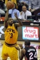 Apr 15, 2013; Cleveland, OH, USA; Cleveland Cavaliers power forward Tristan Thompson (13) shoots over Miami Heat power forward Jarvis Varnado (24) in the fourth quarter at Quicken Loans Arena. Mandatory Credit: David Richard-USA TODAY Sports
