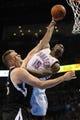 Apr 15, 2013; Oklahoma City, OK, USA; Oklahoma City Thunder guard Reggie Jackson (15) dunks the ball against Sacramento Kings forward Cole Aldrich (45) during the first half at Chesapeake Energy Arena. Mandatory Credit: Mark D. Smith-USA TODAY Sports