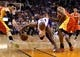 Apr. 15, 2013; Phoenix, AZ, USA: Phoenix Suns forward P.J. Tucker (17) reaches for a loose ball in the second half against the Houston Rockets at the US Airways Center. The Suns defeated the Rockets 119-112. Mandatory Credit: Mark J. Rebilas-USA TODAY Sports