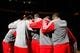 April 14, 2013; Houston, TX, USA; Houston Rockets in a huddle before a game against the Sacramento Kings at the Toyota Center. Mandatory Credit: Brett Davis-USA TODAY Sports