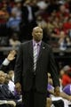 April 14, 2013; Houston, TX, USA; Sacramento Kings head coach Keith Smart coaches against the Houston Rockets in the third quarter at the Toyota Center. The Rockets defeated the Kings 121-100. Mandatory Credit: Brett Davis-USA TODAY Sports