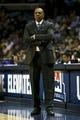 Apr 17, 2013; Memphis, TN, USA;  Memphis Grizzlies head coach Lionel Hollins reacts during the game against the Utah Jazz at FedEx Forum.  Mandatory Credit: Spruce Derden   USA TODAY Sports
