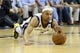 Apr 17, 2013; Memphis, TN, USA;  Memphis Grizzlies point guard Jerryd Bayless (7) dives after the loose ball during the game against the Utah Jazz at FedEx Forum.  The Memphis Grizzlies defeated the Utah Jazz 86-70.  Mandatory Credit: Spruce Derden   USA TODAY Sports