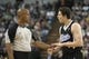 Apr 17, 2013; Sacramento, CA, USA; Sacramento Kings point guard Jimmer Fredette (7) argues a call with the referee during the second quarter at the Sleep Train Arena. Mandatory Credit: Ed Szczepanski-USA TODAY Sports