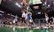 Apr 15, 2013; Milwaukee, WI, USA;  Milwaukee Bucks forward John Henson (31) battles Denver Nuggets center Kosta Koufos (41) for a rebound during the game  at the BMO Harris Bradley Center.  Denver won 112-111.  Mandatory Credit: Jeff Hanisch-USA TODAY Sports