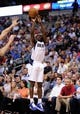 Apr 15, 2013; Dallas, TX, USA; Dallas Mavericks point guard Darren Collison (4) shoots the ball during the game against the Memphis Grizzlies at the American Airlines Center. Mandatory Credit: Jerome Miron-USA TODAY Sports
