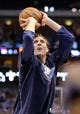 Apr 15, 2013; Dallas, TX, USA; Dallas Mavericks power forward Dirk Nowitzki (41) warms up before the game against the Memphis Grizzlies at the American Airlines Center. Mandatory Credit: Jerome Miron-USA TODAY Sports