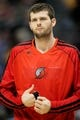 Apr 14, 2013; Denver, CO, USA; Portland Trailblazers forward Joel Freeland (19)  before the first half against the Denver Nuggets at the Pepsi Center. Mandatory Credit: Chris Humphreys-USA TODAY Sports