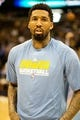 Apr 14, 2013; Denver, CO, USA; Denver Nuggets forward Wilson Chandler (21) before the first half against the Portland Trailblazers at the Pepsi Center. Mandatory Credit: Chris Humphreys-USA TODAY Sports