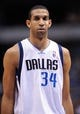 Apr 15, 2013; Dallas, TX, USA; Dallas Mavericks center Brandan Wright (34) prepares to face the Memphis Grizzlies at the American Airlines Center. Mandatory Credit: Jerome Miron-USA TODAY Sports