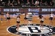 Apr 29, 2013; Brooklyn, NY, USA; Brooklynettes perform during the third quarter in game five of the first round of the 2013 NBA playoffs between the Brooklyn Nets and the Chicago Bulls at the Barclays Center. Brooklyn won 110-91.  Mandatory Credit: Anthony Gruppuso-USA TODAY Sports
