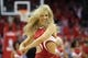 Apr 29, 2013; Houston, TX, USA; Houston Rockets dancer performs against the Oklahoma City Thunder in the fourth quarter in game four of the first round of the 2013 NBA playoffs at the Toyota Center. The Rockets defeated the Thunder 105-103. Mandatory Credit: Brett Davis-USA TODAY Sports