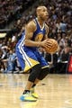 Apr 30, 2013; Denver, CO, USA; Golden State Warriors point guard Jarrett Jack (2) attempts a shot in the first quarter against the Denver Nuggets in game five of the first round of the 2013 NBA Playoffs at the Pepsi Center. The Nuggets won 107-100. Mandatory Credit: Isaiah J. Downing-USA TODAY Sports