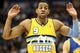 Apr 23, 2013; Denver, CO, USA; Denver Nuggets shooting guard Andre Iguodala (9) reacts to a call in the second quarter against the Golden State Warriors during game two in the first round of the 2013 NBA playoffs at the Pepsi Center. The Warriors won 131-117. Mandatory Credit: Isaiah J. Downing-USA TODAY Sports