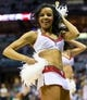 Apr 25, 2013; Milwaukee, WI, USA; The Milwaukee Bucks energee! dance team performs during game three of the first round of the 2013 NBA playoffs against the Miami Heat at BMO Harris Bradley Center.  Miami won 104-91.  Mandatory Credit: Jeff Hanisch-USA TODAY Sports