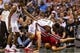 Apr 28, 2013; Milwaukee, WI, USA; Miami Heat forward Shane Battier (31) dives for a loose ball during game four of the first round of the 2013 NBA playoffs against the Milwaukee Bucks at the BMO Harris Bradley Center.  Miami won 88-77.  Mandatory Credit: Jeff Hanisch-USA TODAY Sports