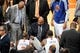 May 1, 2013; New York, NY, USA; New York Knicks head coach Mike Woodson coaches against the Boston Celtics during the first half in game five of the first round of the 2013 NBA Playoffs at Madison Square Garden. Mandatory Credit: Joe Camporeale-USA TODAY Sports