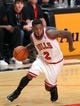 May 2, 2013; Chicago, IL, USA; Chicago Bulls point guard Nate Robinson (2) with the ball during the second half against the Brooklyn Nets in game six of the first round of the 2013 NBA Playoffs at the United Center. Brooklyn won 95-92. Mandatory Credit: Dennis Wierzbicki-USA TODAY Sports