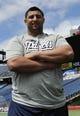 May 3, 2013; Foxboro, MA USA; New England Patriot rookie Joe Vellano poses for a photo during rookie minicamp at Gillette Stadium. Mandatory Credit: Bob DeChiara-USA TODAY Sports