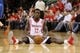 May 3, 2013; Houston, TX, USA; Houston Rockets point guard Patrick Beverley (12) reacts after a play during the fourth quarter against the Oklahoma City Thunder in game six of the first round of the 2013 NBA Playoffs at the Toyota Center. Mandatory Credit: Troy Taormina-USA TODAY Sports
