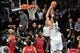 May 4, 2013; Brooklyn, NY, USA; Brooklyn Nets center Brook Lopez (11) dunks against the Chicago Bulls during the second half in game seven of the first round of the 2013 NBA Playoffs at the Barclays Center. The Bulls won 99-93. Mandatory Credit: Joe Camporeale-USA TODAY Sports