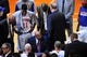 May 7, 2013; New York, NY, USA; New York Knicks head coach Mike Woodson coaches against the Indiana Pacers during the first half in game two of the second round of the 2013 NBA Playoffs at Madison Square Garden. Knicks won the game 105-79. Mandatory Credit: Joe Camporeale-USA TODAY Sports
