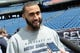 May 3, 2013; Foxboro, MA USA; New England Patriots rookie Brandon Jones of Rutgers talks with the media during rookie minicamp at Gillette Stadium. Mandatory Credit: Bob DeChiara-USA TODAY Sports