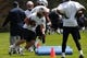 May 3, 2013; Foxboro, MA USA; New England Patriots rookie Zach Sudfeld of the University of Nevada performs a drill during rookie minicamp at Gillette Stadium. Mandatory Credit: Bob DeChiara-USA TODAY Sports
