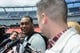May 3, 2013; Foxboro, MA USA; New England Patriots rookie Armond Armstead of Southern California talks with the media during rookie minicamp at Gillette Stadium. Mandatory Credit: Bob DeChiara-USA TODAY Sports