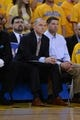 May 2, 2013; Oakland, CA, USA; Golden State Warriors assistant coach Michael Malone watches from the bench against the Denver Nuggets during the third quarter of game six of the first round of the 2013 NBA Playoffs at Oracle Arena. The Warriors defeated the Nuggets 92-88. Mandatory Credit: Kyle Terada-USA TODAY Sports