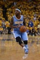 May 2, 2013; Oakland, CA, USA; Denver Nuggets point guard Ty Lawson (3) dribbles against the Golden State Warriors during the fourth quarter of game six of the first round of the 2013 NBA Playoffs at Oracle Arena. The Warriors defeated the Nuggets 92-88. Mandatory Credit: Kyle Terada-USA TODAY Sports