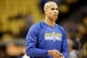 Apr 20, 2013; Denver, CO, USA;  Golden State Warriors forward Richard Jefferson (44) before game one of the first round of the 2013 NBA Playoffs against the Denver Nuggets at the Pepsi Center. Mandatory Credit: Chris Humphreys-USA TODAY Sports