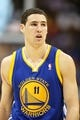 Apr 20, 2013; Denver, CO, USA; Golden State Warriors guard Klay Thompson (11)  during the first half of game one of the first round of the 2013 NBA Playoffs against the Denver Nuggets at the Pepsi Center. The Nuggets won97-95.  Mandatory Credit: Chris Humphreys-USA TODAY Sports