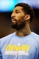 Apr 20, 2013; Denver, CO, USA;  Denver Nuggets forward Wilson Chandler (21) before game one of the first round of the 2013 NBA Playoffs against the Golden State Warriors at the Pepsi Center. Mandatory Credit: Chris Humphreys-USA TODAY Sports