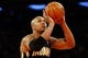 May 16, 2013; New York, NY, USA; Indiana Pacers power forward David West (21) shoots a free throw during the third quarter of game five in the second round of the 2013 NBA Playoffs against the New York Knicks at Madison Square Garden. Knicks won 85-75.  Mandatory Credit: Anthony Gruppuso-USA TODAY Sports