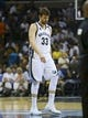 May 25, 2013; Memphis, TN, USA; Memphis Grizzlies center Marc Gasol (33) walks off the court in game three of the Western Conference finals of the 2013 NBA Playoffs against the San Antonio Spurs at FedEx Forum. San Antonio Spurs defeat the Memphis Grizzlies 104-93, and lead the series 3-0.  Mandatory Credit: Spruce Derden-USA TODAY Sports