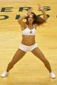 May 26, 2013; Indianapolis, IN, USA; The against the Indiana Pacers cheerleaders perform during the third quarter against the Miami Heat in game three of the Eastern Conference finals of the 2013 NBA Playoffs at Bankers Life Fieldhouse. Miami defeated Indiana 114-96.  Mandatory Credit: Jamie Rhodes-USA TODAY Sports