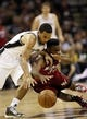 Jun 11, 2013; San Antonio, TX, USA; San Antonio Spurs point guard Cory Joseph (5) and Miami Heat point guard Norris Cole (30) go after a loose ball during the fourth quarter of game three of the 2013 NBA Finals at the AT&T Center. San Antonio Spurs won 113-77.  Mandatory Credit: Soobum Im-USA TODAY Sports
