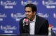 Jun 11, 2013; San Antonio, TX, USA; Miami Heat head coach Erik Spoelstra addresses the media during a press conference after game three of the 2013 NBA Finals at the AT&T Center. San Antonio Spurs won 113-77.  Mandatory Credit: Soobum Im-USA TODAY Sports