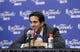 Jun 13, 2013; San Antonio, TX, USA; Miami Heat head coach Erik Spoelstra speaks at a postgame press conference following game four against the San Antonio Spurs in the 2013 NBA Finals at the AT&T Center. The Heat defeated the Spurs 109-93. Mandatory Credit: Soobum Im-USA TODAY Sports