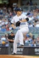 Jun 19, 2013; Bronx, NY, USA; New York Yankees starting pitcher Phil Hughes (65) pitches against the Los Angeles Dodgers during the first inning of a game at Yankee Stadium. Mandatory Credit: Brad Penner-USA TODAY Sports