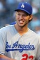 Jun 19, 2013; Bronx, NY, USA; Los Angeles Dodgers starting pitcher Clayton Kershaw (22) in the dugout before the start of the second game of a doubleheader against the New York Yankees at Yankee Stadium. Mandatory Credit: Brad Penner-USA TODAY Sports