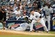Jun 21, 2013; Bronx, NY, USA;  Tampa Bay Rays first baseman James Loney (21) slides safely back to first as New York Yankees first baseman Lyle Overbay (55) is late with the tag during the fourth inning at Yankee Stadium.  Mandatory Credit: Anthony Gruppuso-USA TODAY Sports