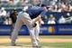 Jun 22, 2013; Bronx, NY, USA;  Tampa Bay Rays relief pitcher Jake McGee (57) pitches during the seventh inning against the New York Yankees at Yankee Stadium.  Yankees won 7-5.  Mandatory Credit: Anthony Gruppuso-USA TODAY Sports