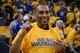 May 10, 2013; Oakland, CA, USA; NFL former running back Roger Craig poses for photos before game three of the second round of the 2013 NBA Playoffs between the Golden State Warriors and the San Antonio Spurs at Oracle Arena. The Spurs defeated the Warriors 102-92. Mandatory Credit: Kyle Terada-USA TODAY Sports